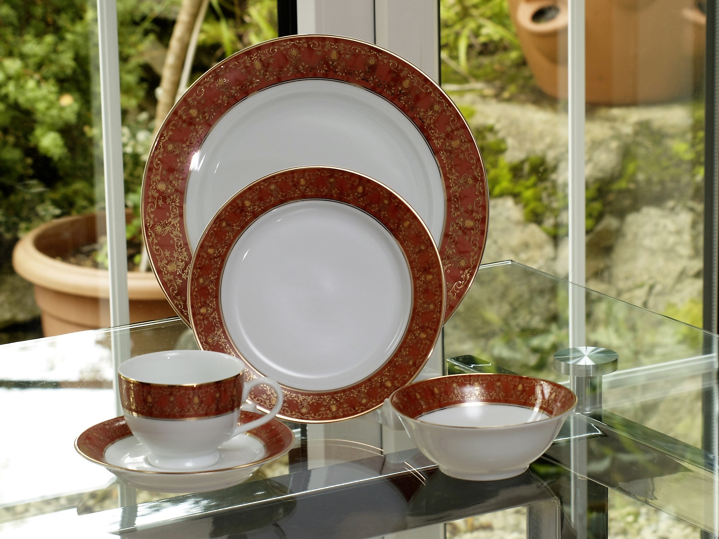 PALOMA RUST 28 PIECE DINNER SERVICE